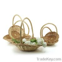 Sell Willow Flat Oval Flower Basket