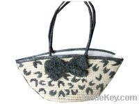 Sell Paper straw crocheted lady summber tote handbag