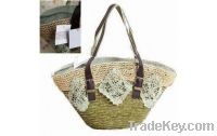 Sell wheat bag with paper straw crocheted outer