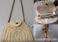 Sell corn straw purse with  metal handle