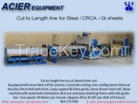 Coil to sheet cutting Cut to length line