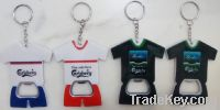 Sell T-shirt bottle opener sport jersey keyring bottle opener