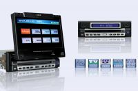 """7"""" In dash Fully Motorized Touch-screen LCD with dvd/tv/fm.am"""