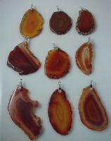 Sell agate pendant, agate slice pendant
