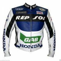 MotoGp MOTORBIKE, MOTORCYCLE LEATHER JACKET FAMOUS BRAND H R