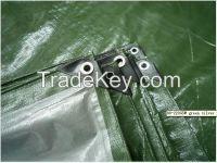 Army green, Silver color PE waterproof tarpaulin , tarpaulin cover