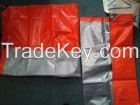 Orange, Silver color PE waterproof tarpaulin , tarpaulin cover