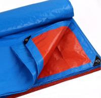 60-260g Blue/Orange, Silver color PE waterproof tarpaulin , Rain cover