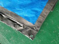 60-260g Blue/grey, Silver color PE waterproof tarpaulin , Rain cover