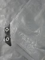 60-260g Silver color PE waterproof tarpaulin , Rain cover