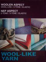 polyester wool-like yarn