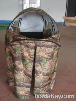 Camouflage square hunting tent