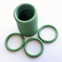 Green FKM rubber o ring seals - IDxCS 21.82x3.53mm