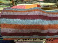 Big stripe woolen shawl