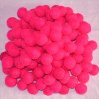 Shocking Pink Felt Ball