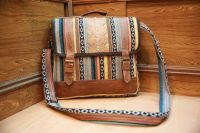 Cotton with Leather Mix Laptop bag