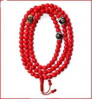 coral Beads Prayer Mala (Necklace)