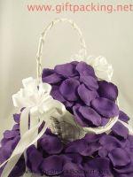 supply china favor wedding silk rose petals(Purple)