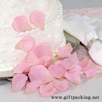 Sell cheap wedding silk  rose petals(pink)