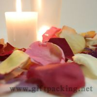 Sell cheap wedding silk  rose petals(red)
