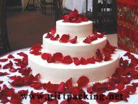 supply favor wedding silk rose petals(big red)