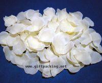 supply favor wedding silk rose petals(white)