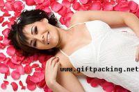 supply  wedding silk rose petals(red bride)