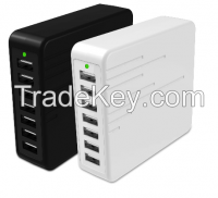 7port USB Charger 45w Charger for iPhone, iPad, Samsung Galaxy, Note, Android