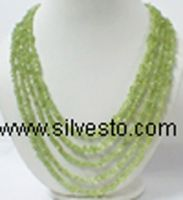 Beaded Neckalces / Peridot Chip Neckalces / Fashion Neckalces