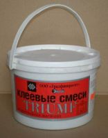 Raw materials for heat resistant mix and construction - repair glue