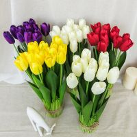 wholesale artificial flowers real touch tulips , fake flores wedding bouquet home party decor, tulip