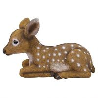 OEM design artificial polyresin the forest fawn baby deer statue