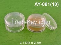 10 gr Plastic Cosmetic Sifter Loose Powder Container -Made in Taiwan