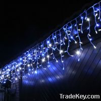 Sell led icicle light with rubber cable CE and RoHS