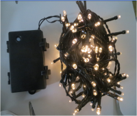 Sell battery LED string light with warm white LED and green cable , waterproof
