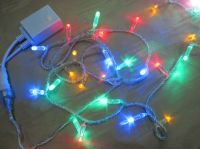 Sell LED string light with multi color LED and white cable connectable 230V/110V/24V