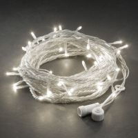 Sell LED string light with white LED and clear cable connectable 230V/110V/24V