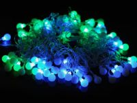Sell LED string light with ornament ball 17mm or 23mm