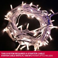 Sell LED string light with white LED and RUBBER cable connectable 230V/110V/24V