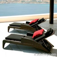 Sell wicker chaise lounge factory price
