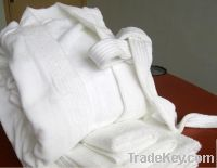 Sell 100% cotton velour  bathrobe