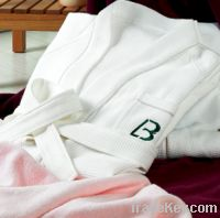 Sell 100% cotton hotel bathrobe