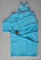 Sell 100% cotton baby hooded bathrobe