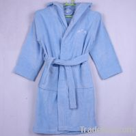 Sell microfiber plush bathrobe