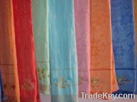 Sell cotton jacquard velour bath towels