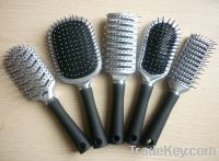 Plastic hair brushes