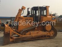 Used cheap hydraulic CAT crawler bulldozer D7H-II in good condition for sale