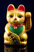 Ceramic Lucky Cat with moving hand