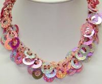 Sell Sequin Necklaces, Glass bead Sequin Necklaces India