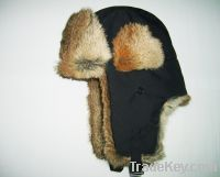 Sell hare color rabbit fur hat